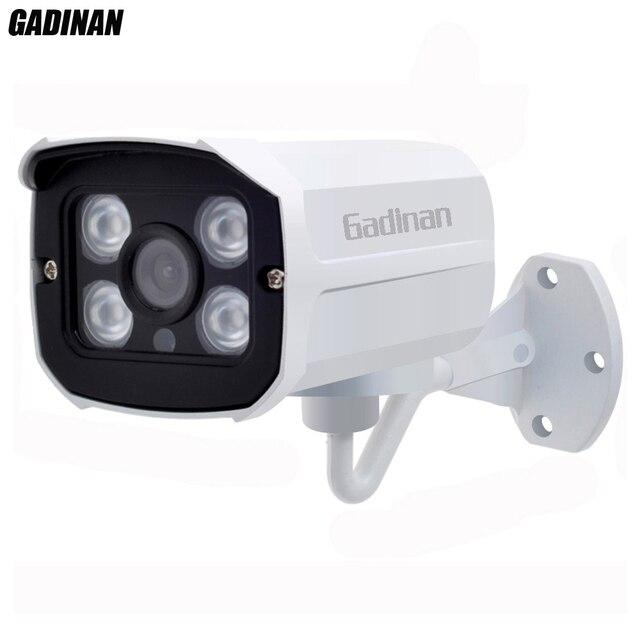GADINAN Onvif 720P 960P 1080P IP Camera 3.6mm Lens Metal Bullet Outdoor Security Waterproof IP Cam CCTV 4pcs Array IR Leds