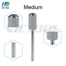 Tungsten Steel Nail Bits Medium Smooth Round Top For Electric Manicure Pedicure Machine Grinder Nail Drill File 47