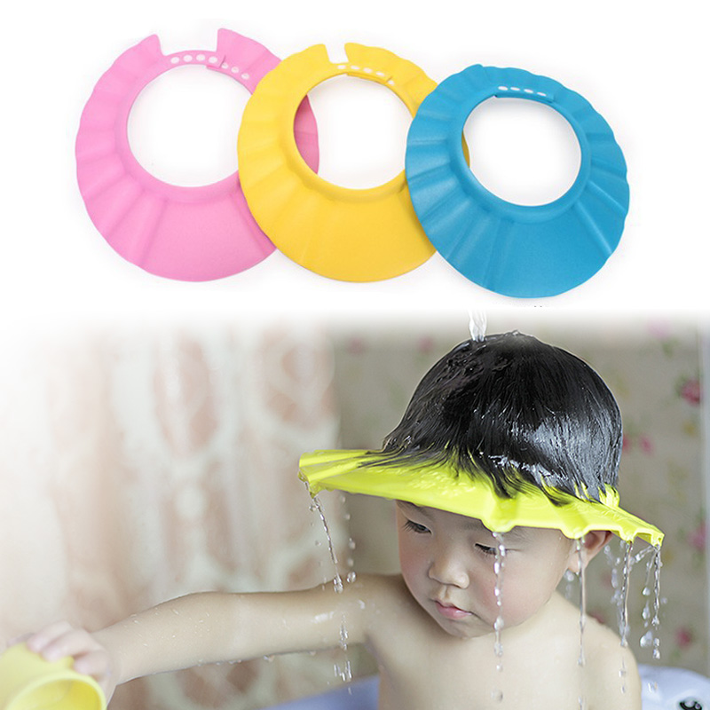 1pc bath tool accessories waterproof safe shampoo baby shower cap