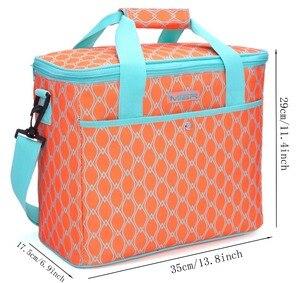 MIER 18L большой мягкий кулер изолированный мешок для пикника для продуктов, путешествия, пляжа, автомобиля, яркий оранжевый цвет