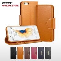 Skrzynka dla iphone 6 6 s Plus, ESR Premium PU leather Biznes Style Wallet case Klapka Folio Case dla iPhone6/6 s/6 P/6 s Plus