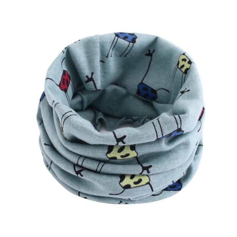Детский хлопковый шейный шарф с милым принтом; детский теплый шарф; Детские воротники; осенне-зимний шарф-кольцо для мальчиков и девочек; аксессуары для детской одежды - Цвет: wb202