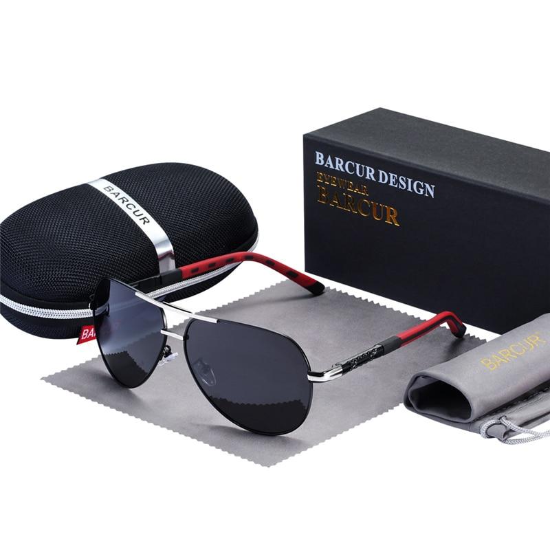 BARCUR Fashion Glasses Hot Style Men sunglasses Polarized UV400 Protection Driving Sun Glasses Male Oculos de sol 9