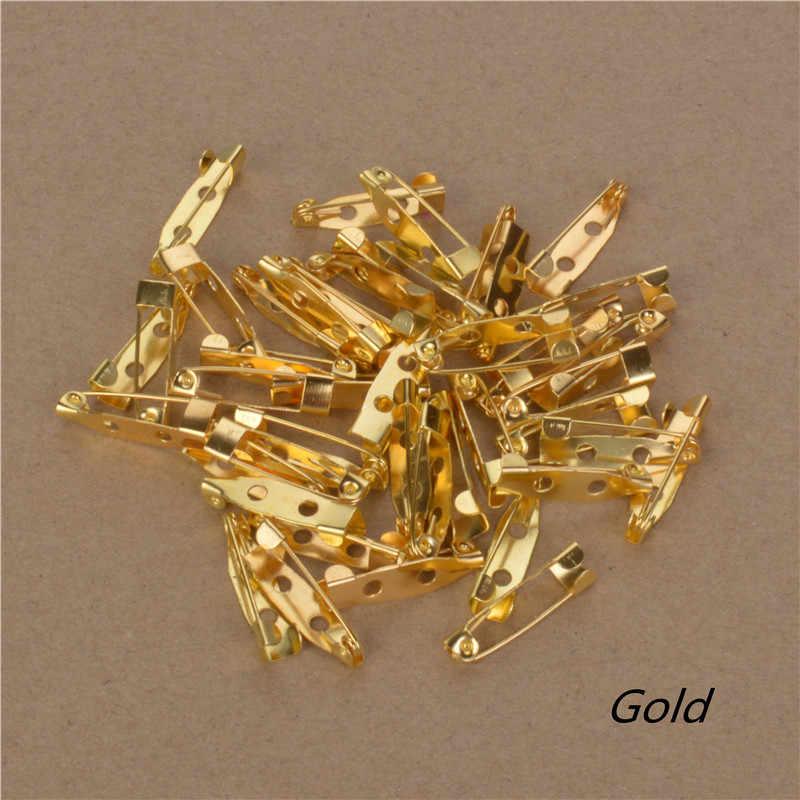 40 pcs/lot Perak Emas Perunggu Dasar Bros Kembali Bar Pins Temuan Membuat perhiasan Buatan Tangan DIY Hadiah Untuk Wanita Pria Tone Besi logam