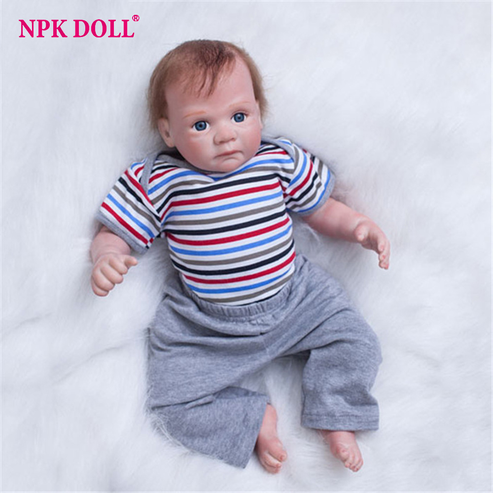 20 Inch America Toddler Doll Newborn Bebe Dolls Silicone Vinyl Baby Boy Realistic Soft Reborn Dolls Gift for Children20 Inch America Toddler Doll Newborn Bebe Dolls Silicone Vinyl Baby Boy Realistic Soft Reborn Dolls Gift for Children