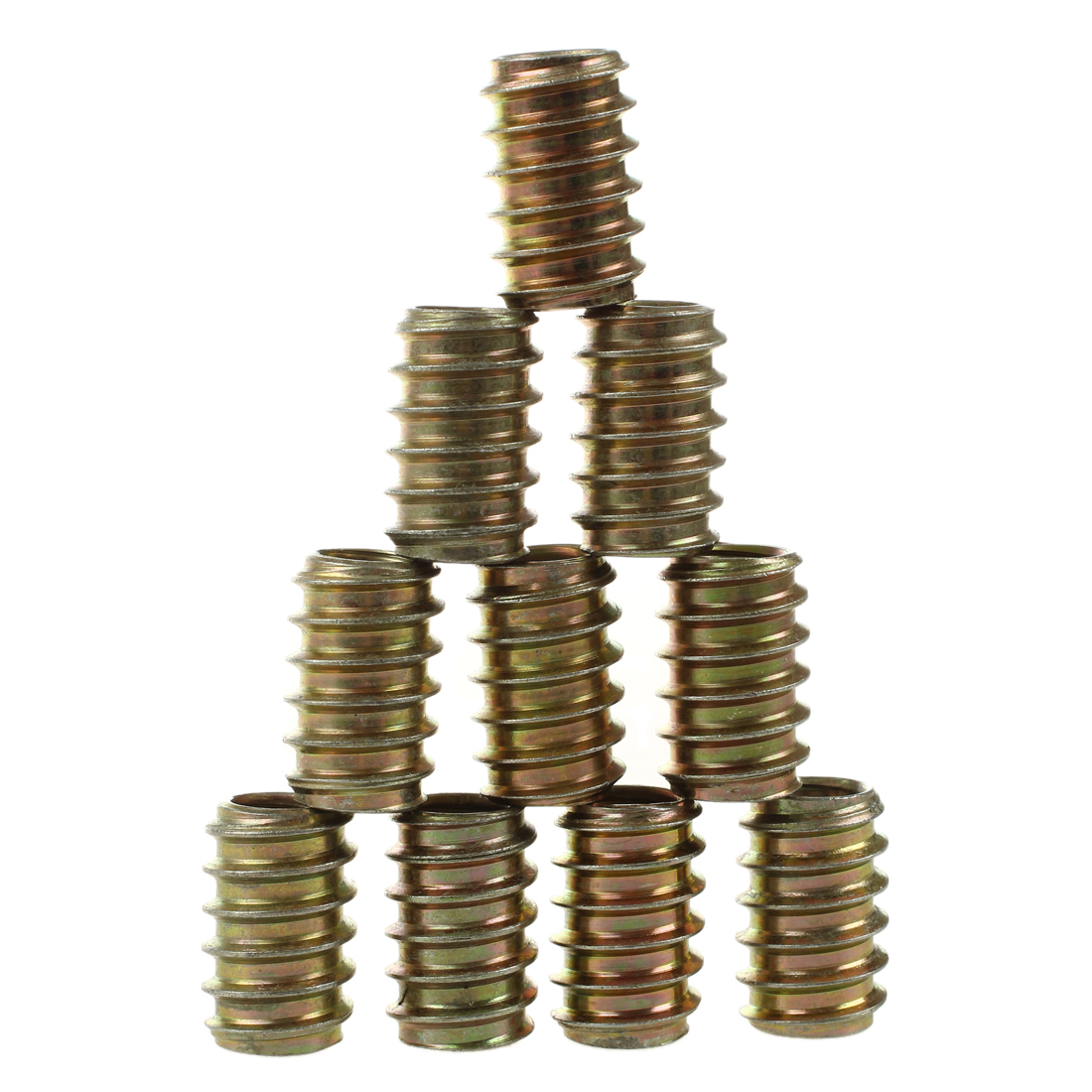 10pcs M8 E-Nut Wood Insert Nut Dowel Screw Fixing Furniture Legs and Bun Feet 8x20mm