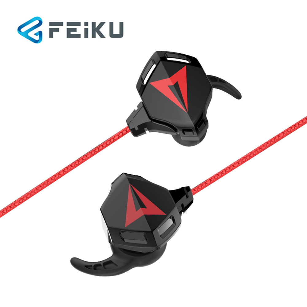 FEIKU G5 Gaming earphones Stereo PC Basswith Mic Wired Vibration games Headphoe PUBG Eat chicken earphones
