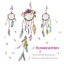 Stylish Dream Catcher PVC Art Decal Mural Color Feather Wall Sticker  Removable Stylish Fine Wall Sticker Part 55