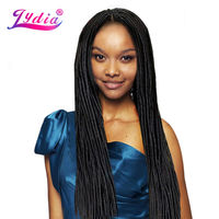 Lydia Soft Dreadlock 3Pcs Lot Crochet Braiding Synthetic Hair Extensions 24strands Pack Crochet Braided Bundles Blonde