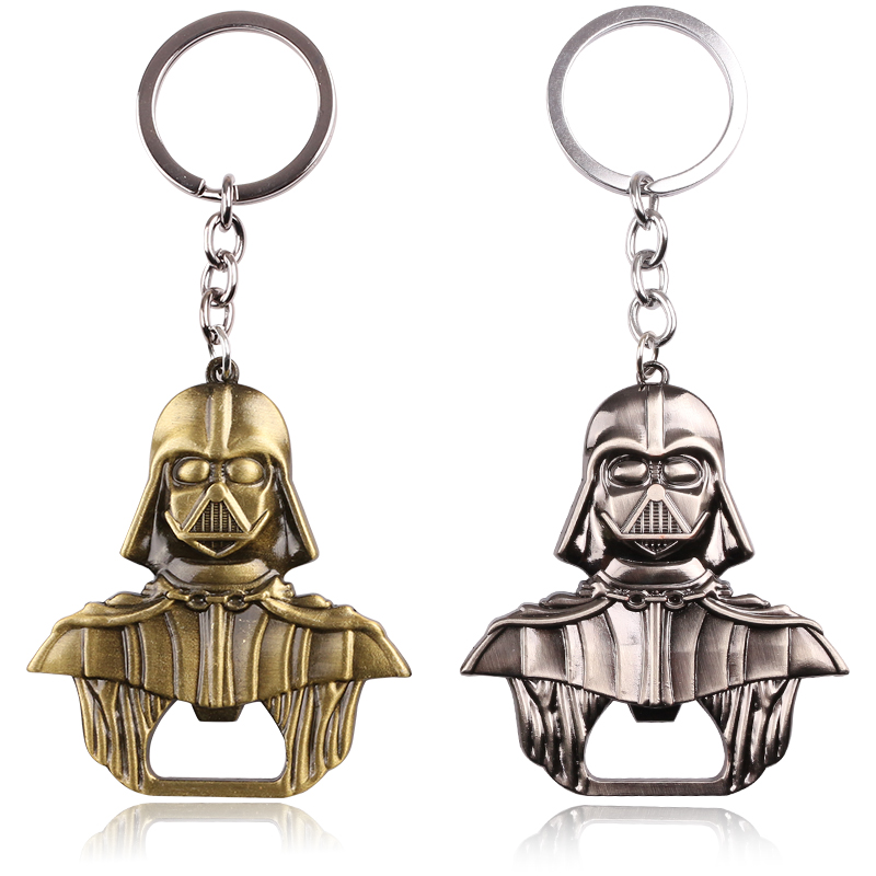 Star Wars Lord Darth Vader Bar Metal Beer Bottle Cap Opener Keychain Movie Series Pendant