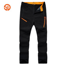 Senlin Jeep Spring And Winter Men Outdoors Plus Cashmere Composite Pants Climbingg Pants Men Warm Outdoore Sporting Trousers Men