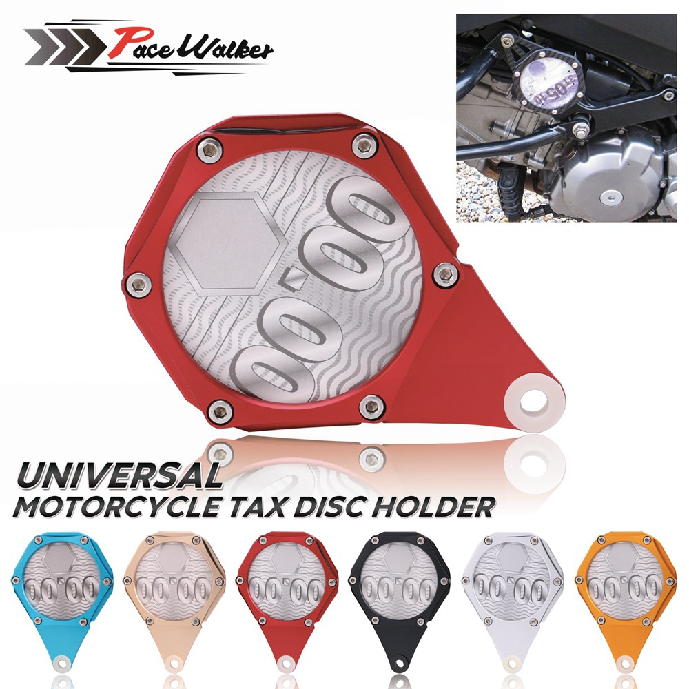 Free Shipping CNC Scooters Quad Bikes Mopeds ATV Motorcycle Motorbike Tax Disc Plate Holder New