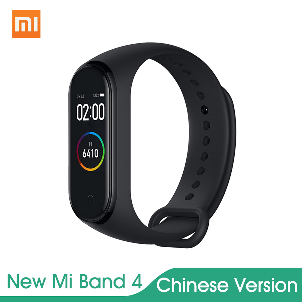 Original for Xiaomi Mi band 4 not 3 fitness bracelet AMOLED Color Screen Wristband BT 5.0 135 mAh Battery Tracker Smart Watch rockspace eb30