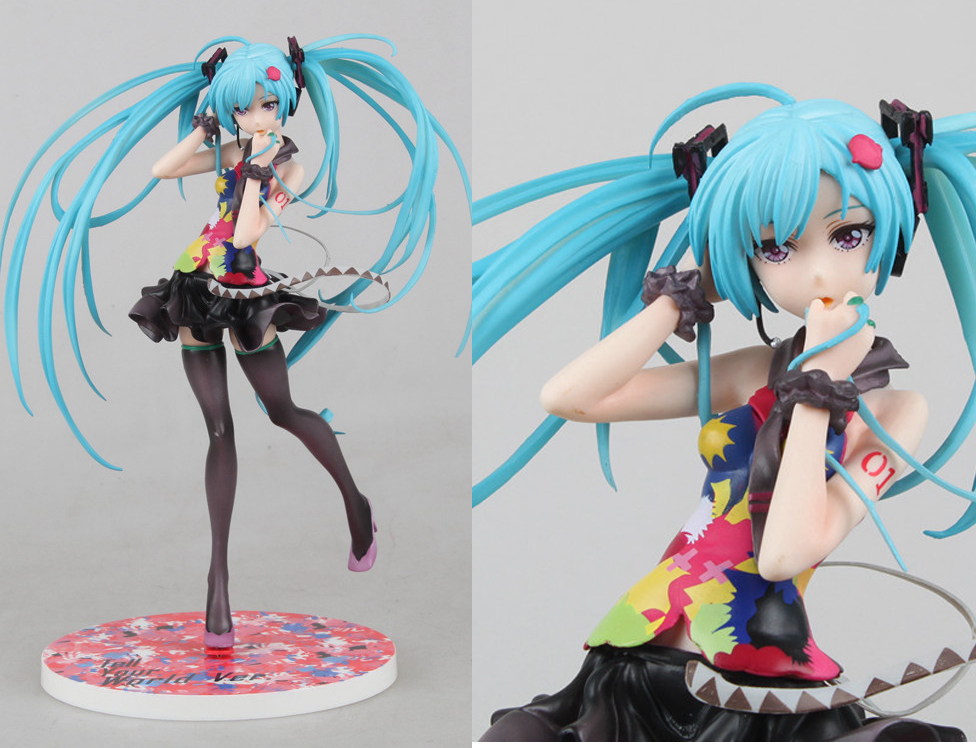 21CM Japanese Anime Doll Hatsune Miku Tell your world Ver. <font><b>1</b></font>/8 <font><b>Scale</b></font> PVC <font><b>action</b></font> <font><b>Figure</b></font> Model <font><b>Sex</b></font> <font><b>Toy</b></font> for collection image