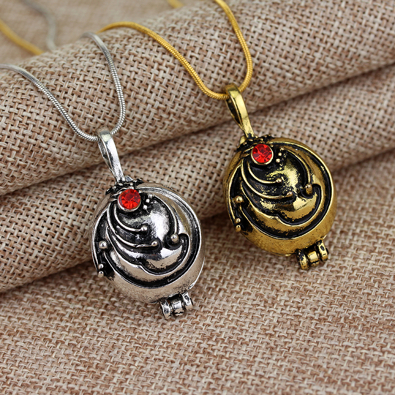 Wholesale Fashion Movie Jewelry The Vampire Diaries Elena Vervain Filmes Box Alloy Pendant Necklace 12pcs lot