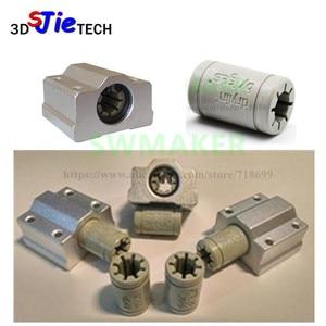 Image 1 - 7pcs Polymer SC8UU & Bracket 8mm Linear Rail Double Igus Drylin RJ4JP 01 08 for Anet/Tronxy/Reprap Prusa i3 3D printer