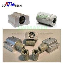 Polymère SC8UU et support, 7 pièces, Rail linéaire Double Igus Drylin RJ4JP 01 08 de 8mm pour imprimante 3D Anet/Tronxy/Reprap Prusa i3