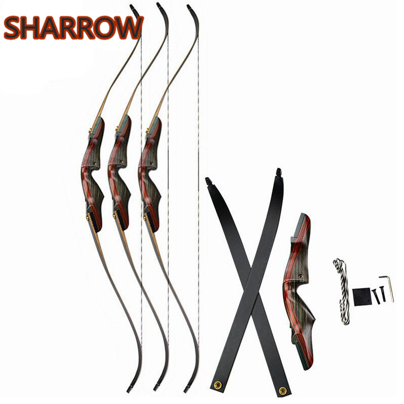 62inch 20-50lbs Archery Recurve Bow Draw weight Right Hand Takedown Bow For Outdoor Camping Game Training Shooting Accessories