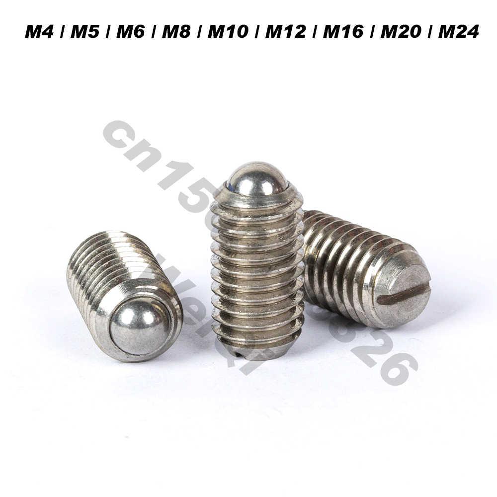 Palla stantuffi, primavera macchie, 304 In acciaio inox, molla di Bloccaggio A Vite, slot, m4 M5 M6 M8 M10 M12 M24
