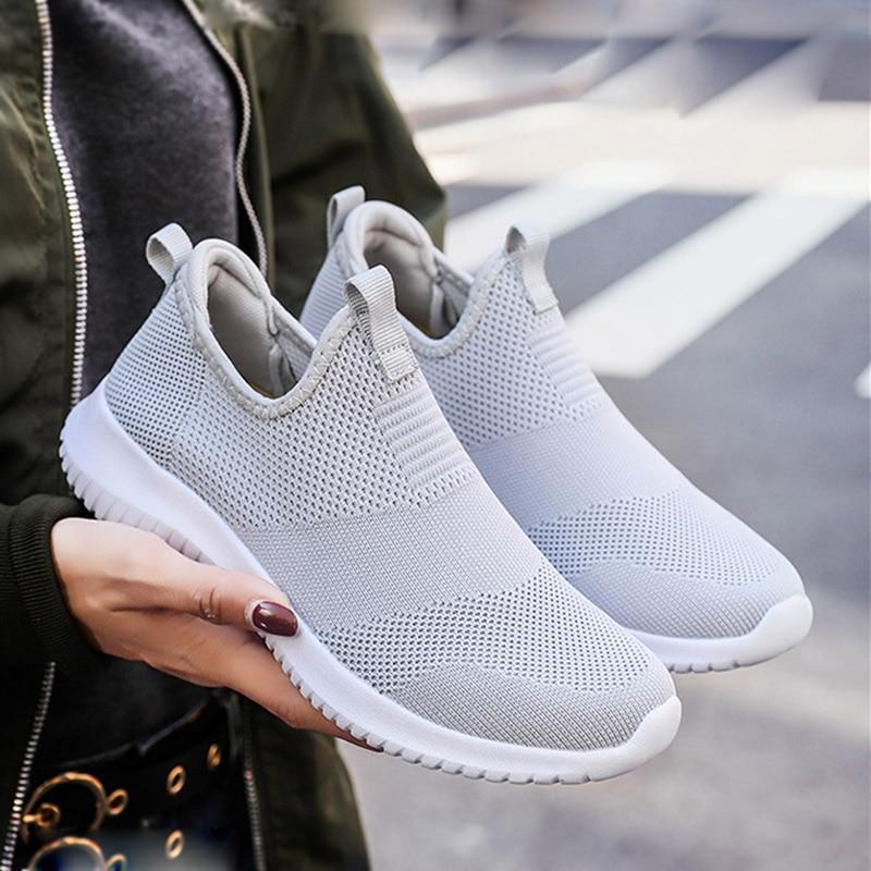REETENE 2019 Slip On Men Casual Shoes Men Sneakers Summer Running Shoes For Men Lightweight Mesh Shoes Male Big Sizes 36-48 1