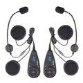 2 unids V5 bidireccional 5 Jinetes 1200 m Motocicleta BT Bluetooth Intercom Interphone Casco de la Moto FM Auriculares de Radio el Envío Gratuito!