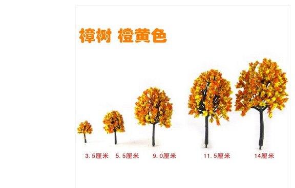 € 13.45  Maison & Jardin BRICOLAGE manuel sable modèle de table modèle de  bâtiment matériel en plastique orange jaune arbre 3.5 cm dans Figurines et  ...