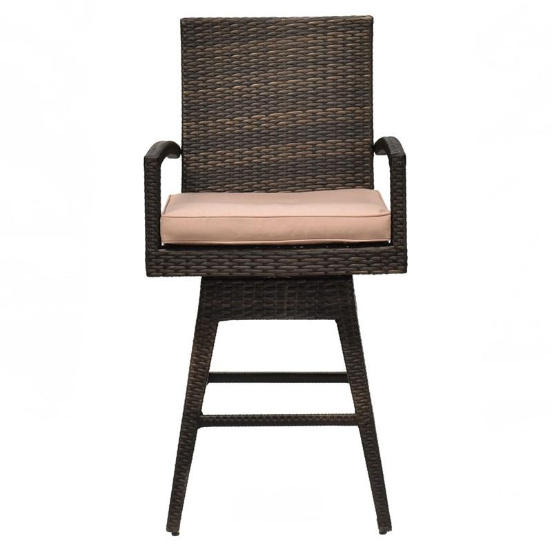 Outdoor Wicker Swivel Bar Stool Chair