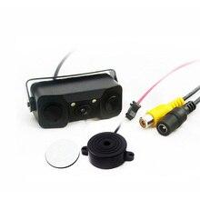 Новый 2 в 1 звуковой сигнал HD Автомобильный Обратный резервного LED заднего вида Камера парковочный радар Системы, заднего вида Камера + 2 Сенсоры парковочные