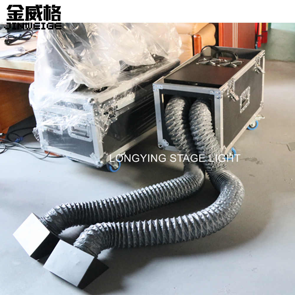 Free Shipping Double Hoses 2000W Water Fog Machine DMX Remote Control Low Lying Water Fog Smoke Machine