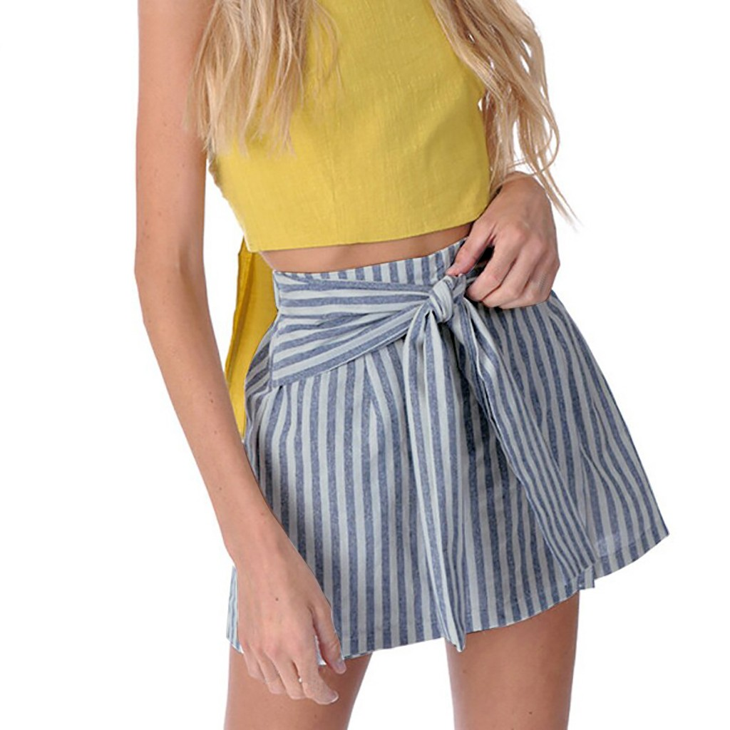 2020 summer New Women Fashion Skirts Sexy Hollow Out Summer Stripe Short Skirts high quality dropshiping W614