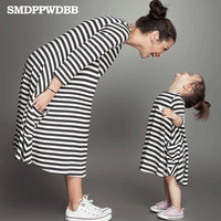 Family Dress Mother Daughter Summer Fashions Striped Family Look Matching Clothes Maternity And Daughter Dress Family