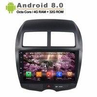 10,1 дюймов 1024*600 Android 8,0 автомобильное радио для MITSUBISHI ASX емкостный сенсорный экран gps навигация WiFi 3g без canbus