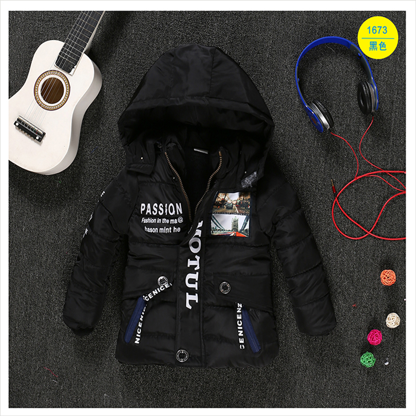 Children's clothing male winter cotton-padded jacket down cotton - Children's Clothing - Photo 3