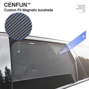 4pcs MAGNETIC CAR WINDOW LASER SHADE SUN BLOCK VISOR UV PROTECTION  BLIND MESH SIDE DOOR FOR PEUGEOT 5008 408 2014-2018