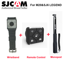 SJCAM SJ7 Star Accessories Waterproof Handheld Selfie Stick Monopod +Wrist Band WiFi Remote Control for M20 SJ6 SJ7 Star Remote