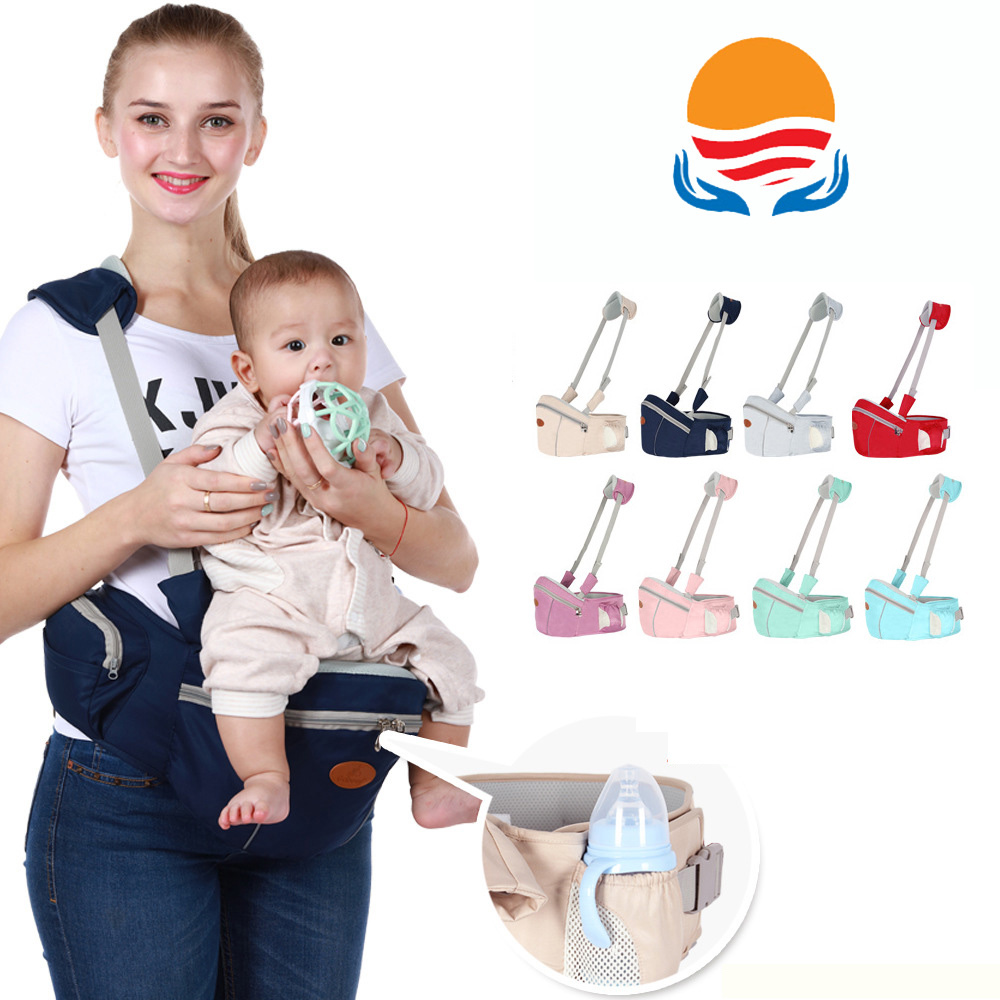 LXXU 902 Mummy Baby Carrier Hands Free Soft Waist Stool Multi Function Storage of Small Items Kids Infant Hip Seat