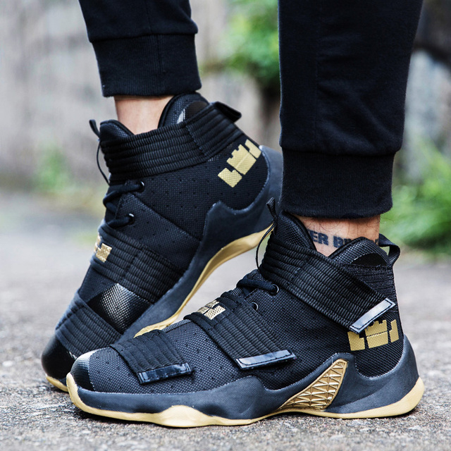 Original Professional Men Basketball Shoes Air Cushion Women High Ankle Top  Sneakers Footwear Sport LBJ 11 Boys Outdoor Trainers-in Basketball Shoes  from ... 723f0f20f5a8