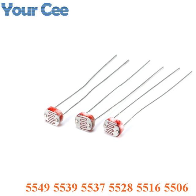 200 pcs Light Dependent Resistor LDR 5MM Photoresistor Photoelectric ...