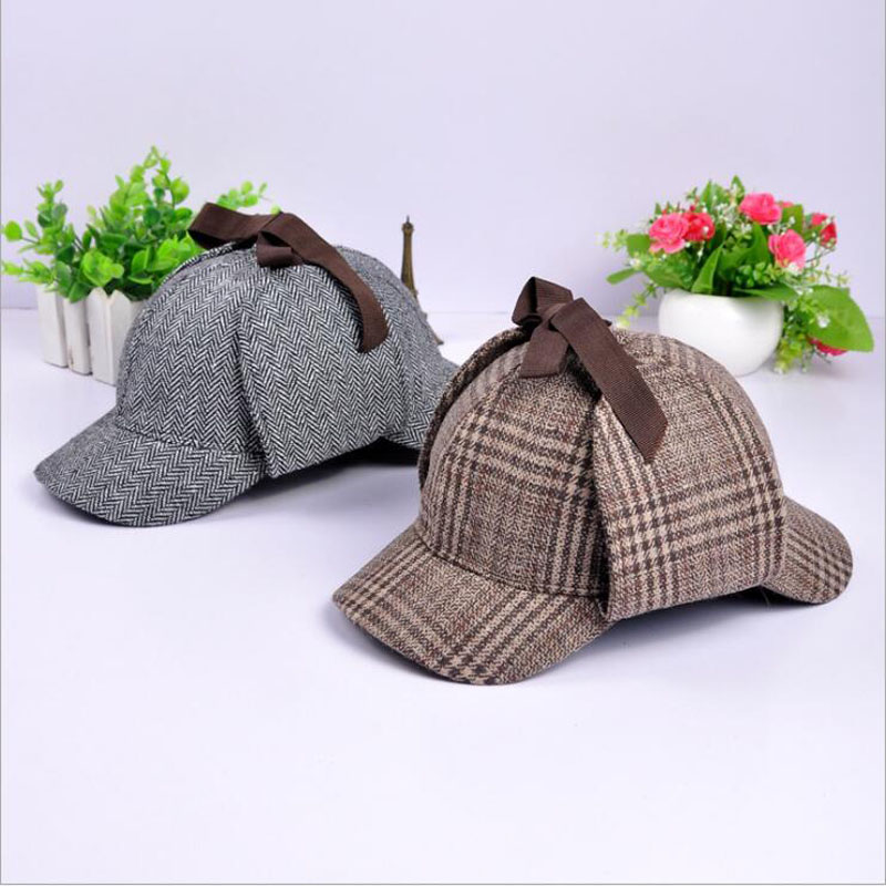 Brand Sherlock Holmes Detective Hat Unisex Accessories Women Mens Winter Berets Ear Flaps Baseball Cap Novel Accessories