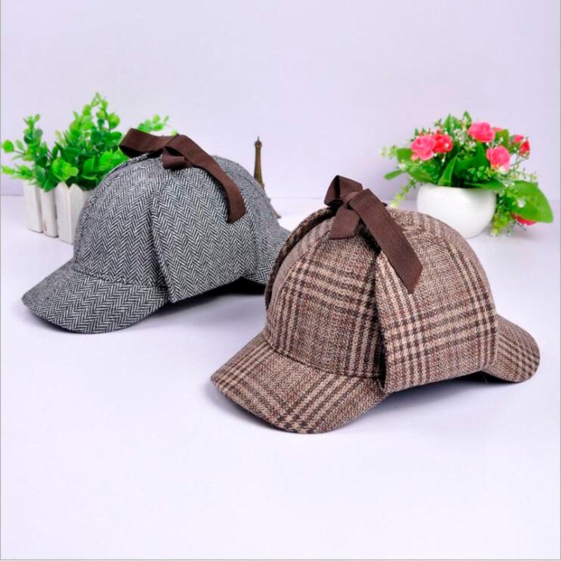 Brand Sherlock Holmes Detective Hat Unisex Accessories Women Mens Winter Berets Ear Flaps Baseball Cap Novel Accessories