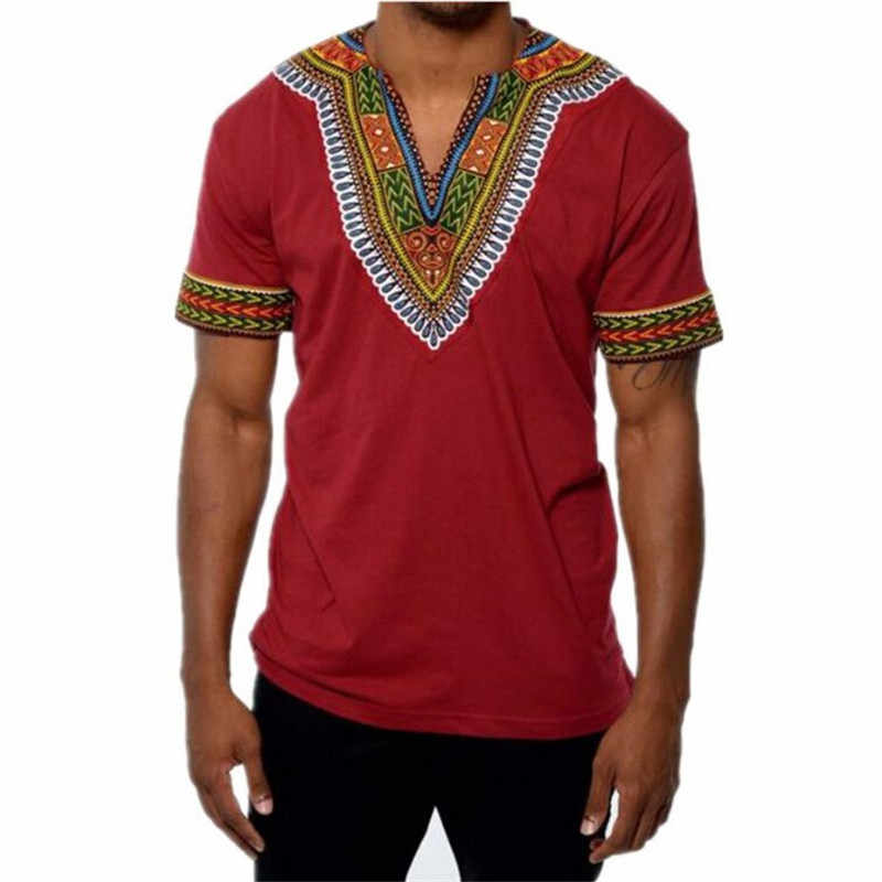Hot Fashion Mens Top Shirts Short Sleeve African Summer Shirt For Male Plus Size Middle East Moslem Totem Shirt Men 2019 B361