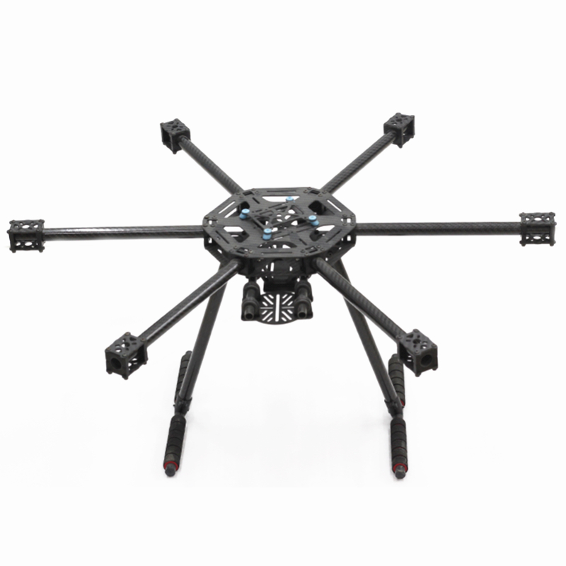 LJI X600 X6 600mm FPV Hexacopter Frame Carbon Fiber with Landing Gear Skid F550 drone Upgraded
