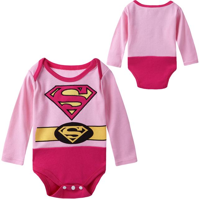 Nouveau-né Bébé Fille Super Fille Costume Body Infantile Partie Cosplay Manches Longues Coton Combishort
