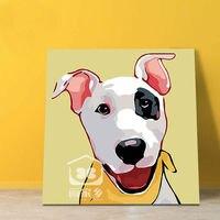 漫画小さなかわいい動物犬猫デジタルペイントby数字モジュラー絵画油絵by数字ギフト用キッ