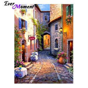 Ever Moment Алмазная картина, стразы 5D, сделай сам, полностью квадратная вышивка крестом, алмазная вышивка, пейзаж, дом S2F1933