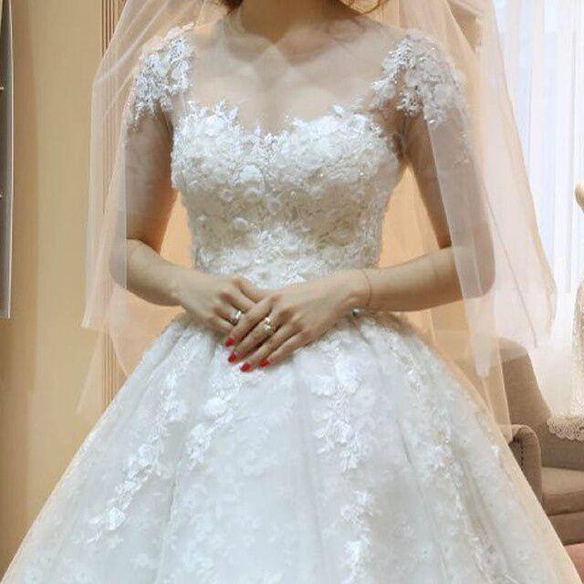 ph151031 real sample wedding dresses 2015 white lace wedding ball gownchina mainland