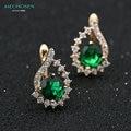 Mechosen impresionante cubic zirconia stud pendientes de cobre para las mujeres de la cz diamond crystal boda chapado en oro orecchini brincos ohrring