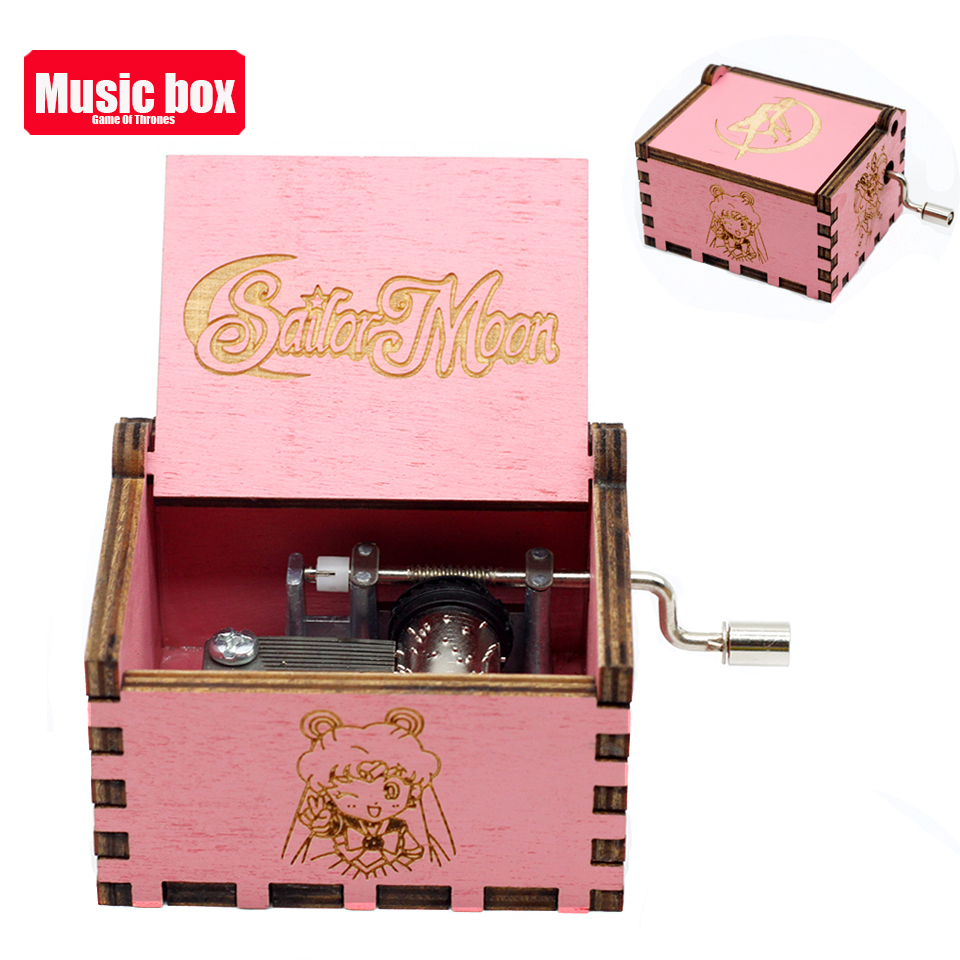 Новая музыкальная шкатулка La Vie En из розового дерева, крутые подарки на день рождения, детская вечеринка, Звездные войны, игра на трон, детские подарки