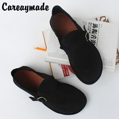 Careaymade Real leather flat heel soft sole women s shoes retro pure hand made top leather