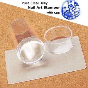 Image 2 - Biutee прозрачный стемпинг нового стиля силиконовый штамп для ногтей скребок с топом прозрачная 2.9 см ногтей штамповка инструменты для маникюра